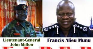 Sierra Leone Head Of Police And Army In FIRED