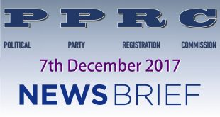 PPRC NEWS BRIEF 8th December, 2017