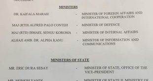 GOVERNMENT OF SIERRA LEONE  PRESS RELEASE