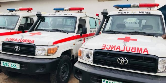 President Dr Ernest Bai Koroma launched the National Emergency Medical Services