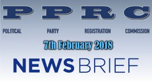 PPRC PRESS RELEASE 7th February, 2018