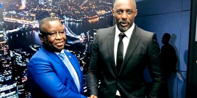 President Bio Meets Idris Elba (In Picture)